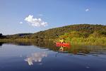 Kayaker on Prompton Lake