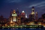 Philadelphia Skyline at Night from Camden NJ
