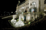 Fountain at Night, Hotel du Parlement,