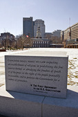 Independence Hall and the First Amendment Monument