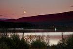 Moonrise over Foster Joseph Sayers Lake