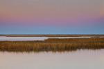 Salt Marsh in Autumn at Sunset