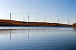 Wind Turbines Above Beaverdam Reservoir