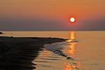 Sunset on Presque Isle Beach