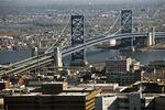 Ben Franklin Bridge and Philadelphia