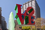 LOVE Statue At JFK Plaza