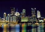 Pittsburgh Skyline at night and the Monongahela River