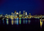 Pittsburgh Skyline at night and the Monongahela River