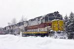 Delaware & Lackawanna Train In Snowstorm