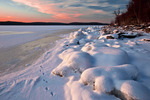 Winter Sunset, Lake Wallenpaupack
