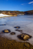 Lakeshore spring ice melt