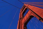 Golden Gate Bridge tower and cables