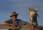 Farmer with favorite horse