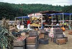 Roadside produce market