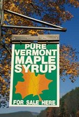Sign advertising Vermont Maple Syrup