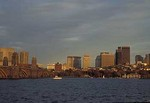 Boston skyline, Charles River