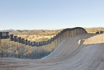 U.S. border fence on US/Mexico border