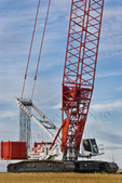 Large crawler crane at windfarm