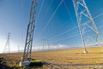 Eletcricity transmission lines, San Joaquin Valley, California