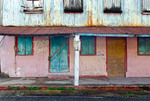 Dilapidated building in downtown Frederiksted, St Croix, US Virgin Islands