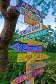 Homemade direction signs, St Croix, US Virgin Islands