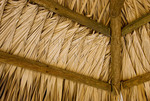Detail inside shade structure on public beach, Frederiksted, St Croix, US Virgin Islands
