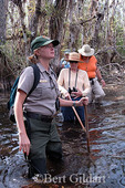 Ranger Connie Fenner leads group on swamp walk in Big Cypress National Preserve