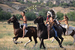 Riders celebrating ancient victory against warring tribes on Day of Honor, Chief Plenty Coups State Park, Montana.