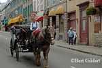 Horse-drawn Carriage descends Rue St. Louis