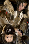 Carrie Nelson of Point Barrow with son Kyle, ties for 1st in Native Baby Contest with Dora Brower, as seen during  2009 World Eskimo-Indian Olympics, Fairbanks, AK. USA