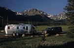 Shadows fall on Two Medicine Campground, Glacier National Park, Montana. USA