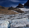 Grinnell Glacier, photo 1980, which now exists mostly as Upper Grinnell Lake; Glacier National Park, Montana. USA