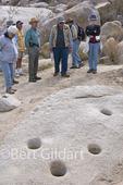 Morteros, as seen during walk with volunteer Sam Web, Anza Borrego Desert State Park