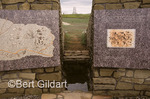 New Indian Memorial equals the monument to soldiers of the 7th Calvary--upon which it looks thru Spirit Gate, in Peace&Unity. Little Bighorn Battlefield, Montana. USA