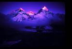 Mt Everest, Nuptse, Lhotse at dawn.
