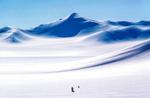 Skier Siachem Glacier, Pakistan