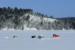 Ice fishing huts on Mary Lake