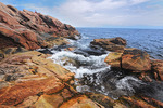 Rocky shoreline on Cabot Trail
