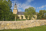Historic church on the Red River; oldest stone church in Western Canada being used as a place of worship