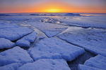 Ice on shore of Lake Winnipeg