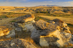 Hoodoos in badlands