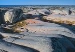 Rocky shoreline of precambrian rock along Hudson Bay