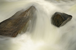 Detail of rocks and water in Rushing River