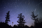Star trails and fire tower