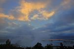 Sunrise and fog at NIagara Falls