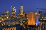 Toronto City at dusk with CN Tower