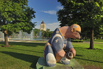 'Bears on Broadway' sculpture in fornt of Manitoba Legislature