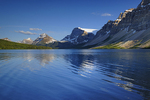 Bow Lake reflection and the Canadian Rocky Mountains