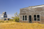 Old buildings in ghost town