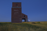 Grain elevator in ghost town